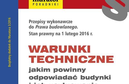 Warunki techniczne: AKTUALNY TEKST ROZPORZĄDZENIA w PDF